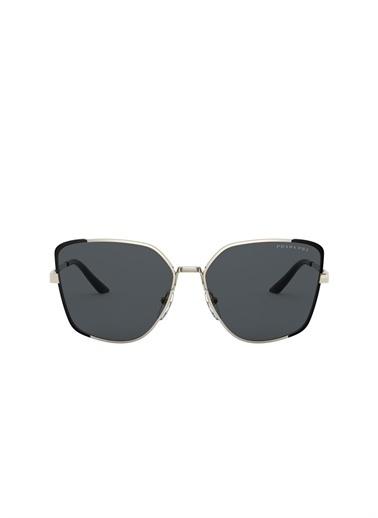 Prada Prada 0Pr 60Xs 59 Ekartman Pale /Matte Black Kadın Güneş Gözlüğü Renksiz